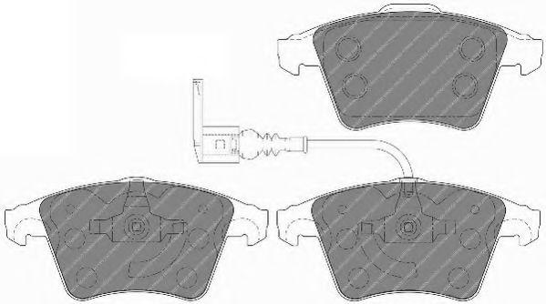Комплект тормозных колодок, дисковый тормоз FERODO арт. FVR1643
