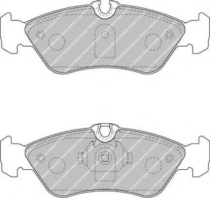 Комплект тормозных колодок, дисковый тормоз FERODO арт. FVR1876