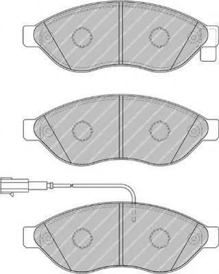 Комплект тормозных колодок, дисковый тормоз FERODO арт. FVR1924