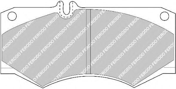 Комплект тормозных колодок, дисковый тормоз FERODO арт. FVR239