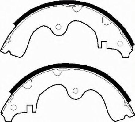 Комплект тормозных колодок FERODO арт. FSB224