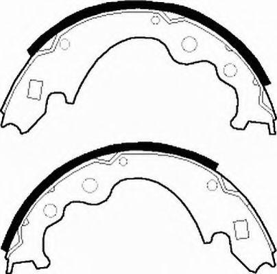 Комплект тормозных колодок FERODO арт. FSB245