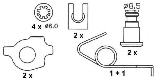 Комплект тормозных колодок FERODO арт. FSB266