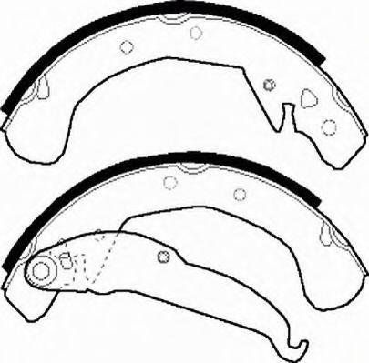 Комплект тормозных колодок FERODO арт. FSB545