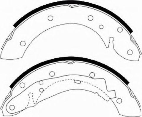 Комплект тормозных колодок FERODO арт. FSB567