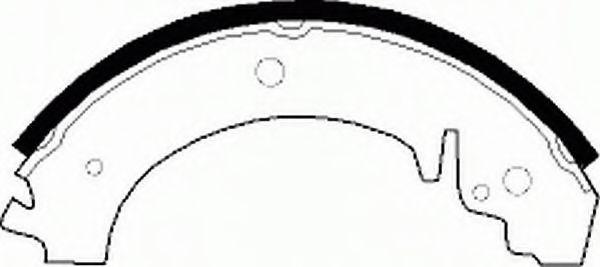 Комплект тормозных колодок FERODO арт. FSB59