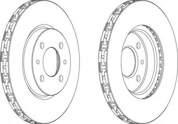 Тормозной диск FERODO арт. DDF762