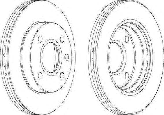 Тормозной диск FERODO арт. DDF766