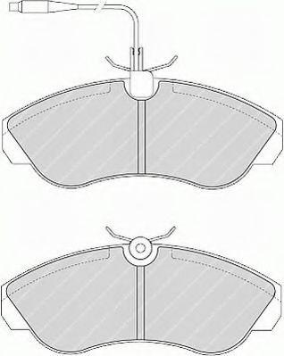Комплект тормозных колодок, дисковый тормоз FERODO арт. FSL968