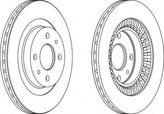 Тормозной диск Ваз 2112 R14 (комплект 2 шт) Ferodo  FERODO арт.