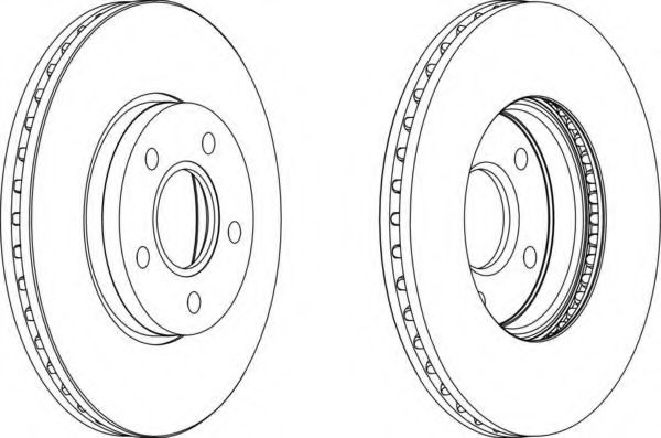 Тормозной диск FERODO арт. DDF1222