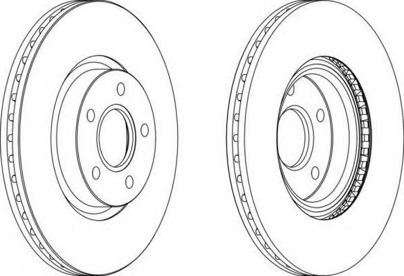 Тормозной диск FERODO арт. DDF1225