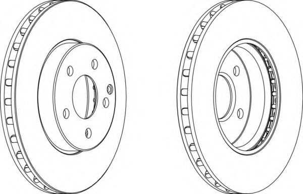Тормозной диск FERODO арт. DDF1252