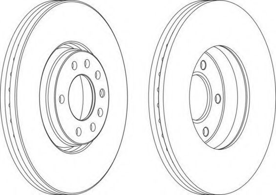 Тормозной диск FERODO арт. DDF1261