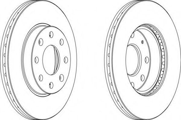 Тормозной диск Авео передний (комплект 2 шт) Ferodo FERODO арт.