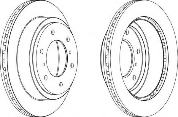 Тормозной диск FERODO арт. DDF1385