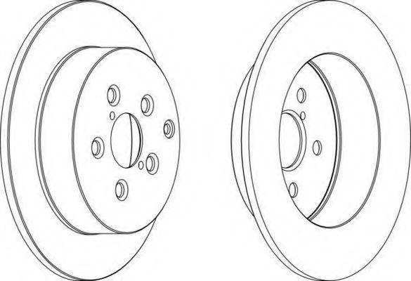 Тормозной диск FERODO арт. DDF1406