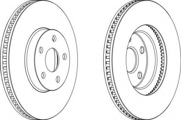 Тормозной диск FERODO арт. DDF1484