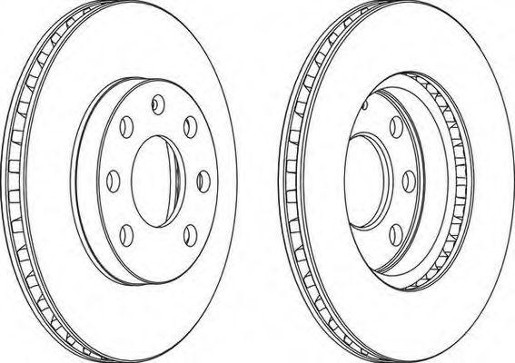 Тормозной диск Ланос 1.5 передний R13 (комплект 2шт) Ferodo FERODO арт.