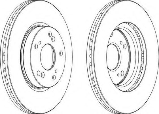 Тормозной диск FERODO арт. DDF1539