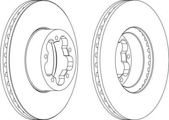 Тормозной диск FERODO арт. DDF1554