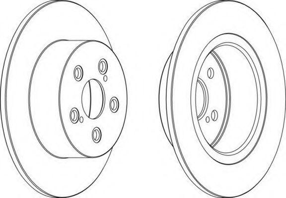 Тормозной диск FERODO арт. DDF1556