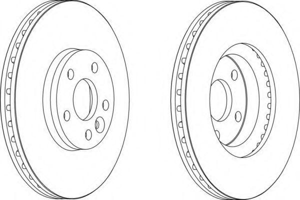 Тормозной диск FERODO арт. DDF1567