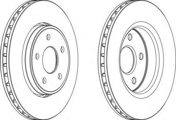 Тормозной диск FERODO арт. DDF1593