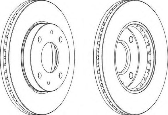 Тормозной диск FERODO арт. DDF1614