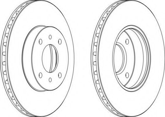 Тормозной диск FERODO арт. DDF959