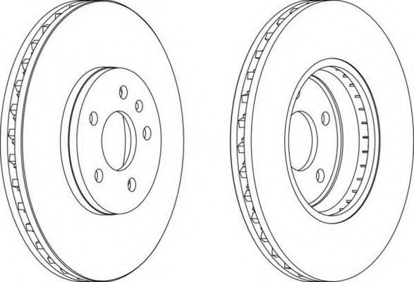 Тормозной диск FERODO арт. DDF1664