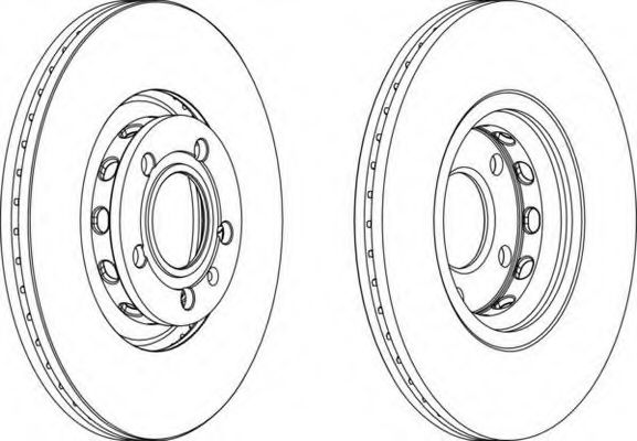 Тормозной диск FERODO арт. DDF1707