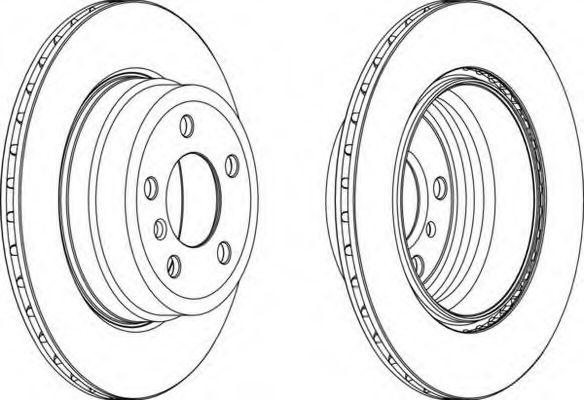 Тормозной диск FERODO арт. DDF1715C