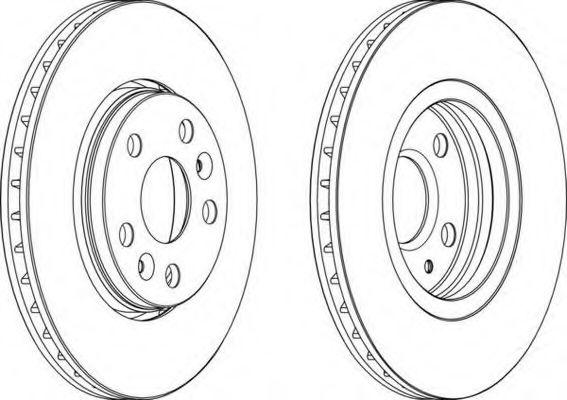 Тормозной диск FERODO арт. DDF1733