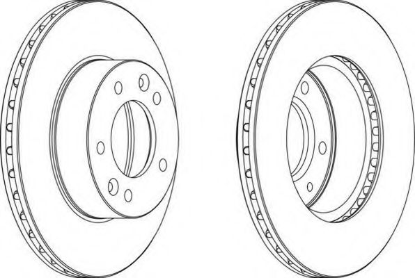 Тормозной диск FERODO арт. DDF455