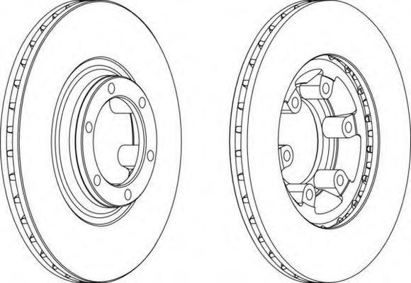 Тормозной диск FERODO арт. DDF460