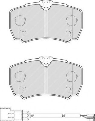 Комплект тормозных колодок, дисковый тормоз FERODO арт. FVR4251