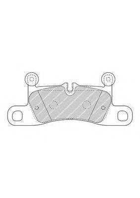 Комплект тормозных колодок, дисковый тормоз FERODO арт. FDB4424