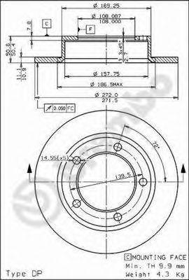Тормозной диск BREMBO арт. 08393910