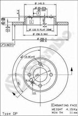 Тормозной диск BREMBO арт. 08514914