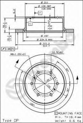 Тормозной диск BREMBO арт. 08710610