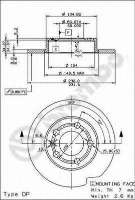 Тормозной диск BREMBO арт. 08716514