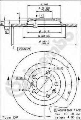 Тормозной диск BREMBO арт. 08868210