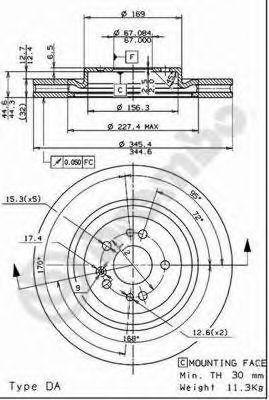 Тормозной диск BREMBO арт. 09760611
