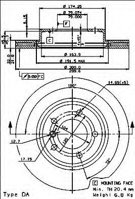 Тормозной диск BREMBO арт. 09770111