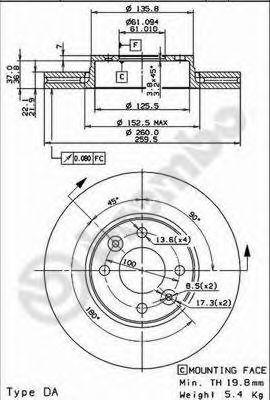Тормозной диск BREMBO арт. 09907811