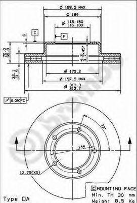 Тормозной диск BREMBO арт. 09914310