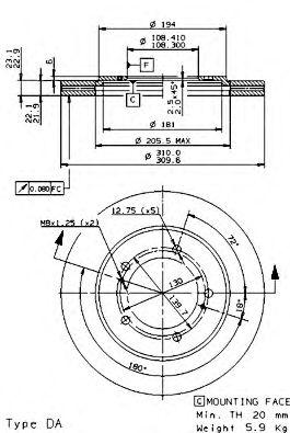 Тормозной диск BREMBO арт. 09972714