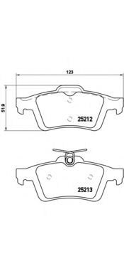 Комплект тормозных колодок, дисковый тормоз BREMBO арт. P24148