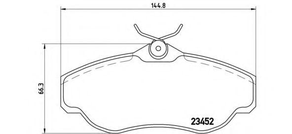 Колодки гальмівні дискові Brembo P44008